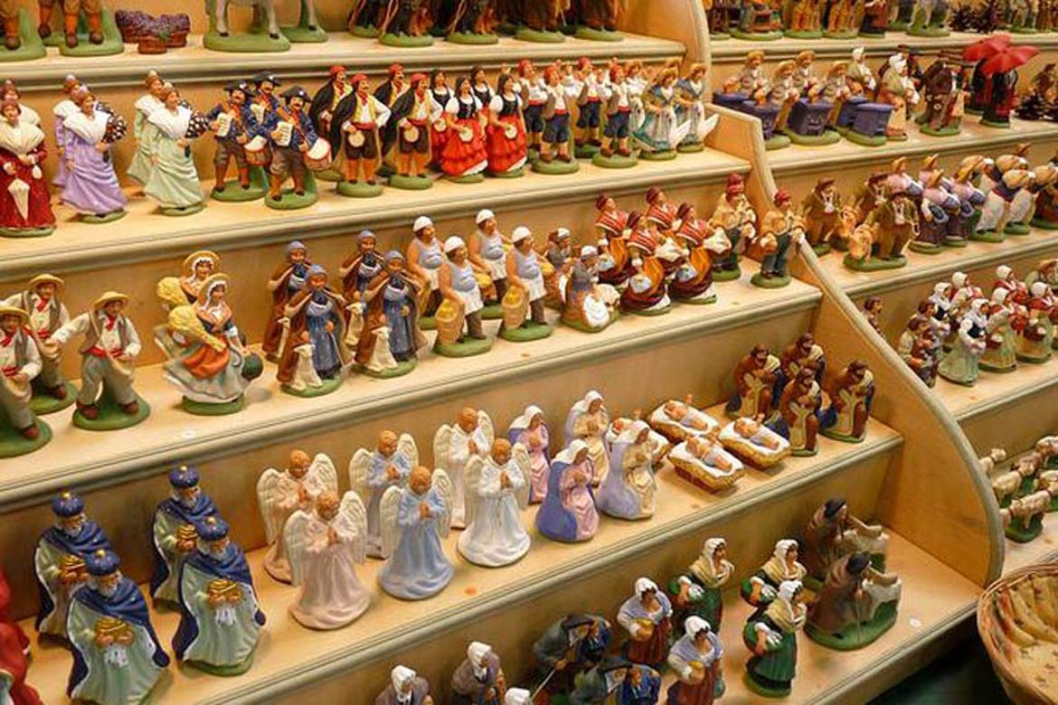 Nativity characters - house sitting in France at Christmas