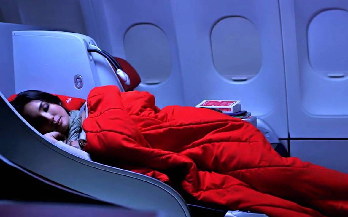Air Asia Flatbed - sleep easy upgrade
