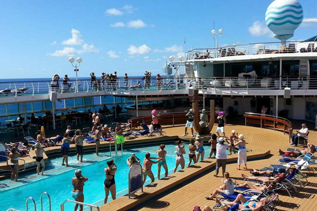 Swimming Pool on Cruise Ship