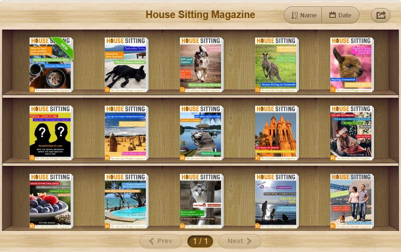 House Sitting Magazine - cover