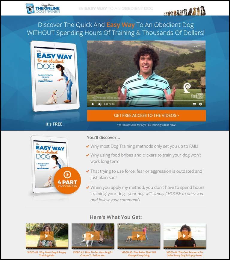 Doggy Dan Website Dog Training Course