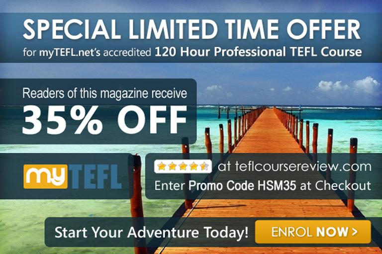 TEFL course 35% off