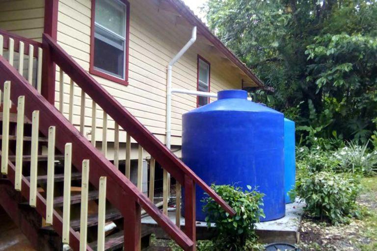 water tanks at Panama house sit
