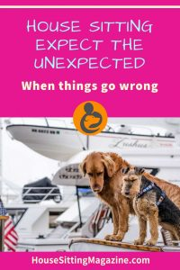 House Sitting Guidelines - Expect the Unexpected - Measures you can take to help you avoid problems. By Michelle McDines #housesittingguidelines #housesitting #beginhousesitting