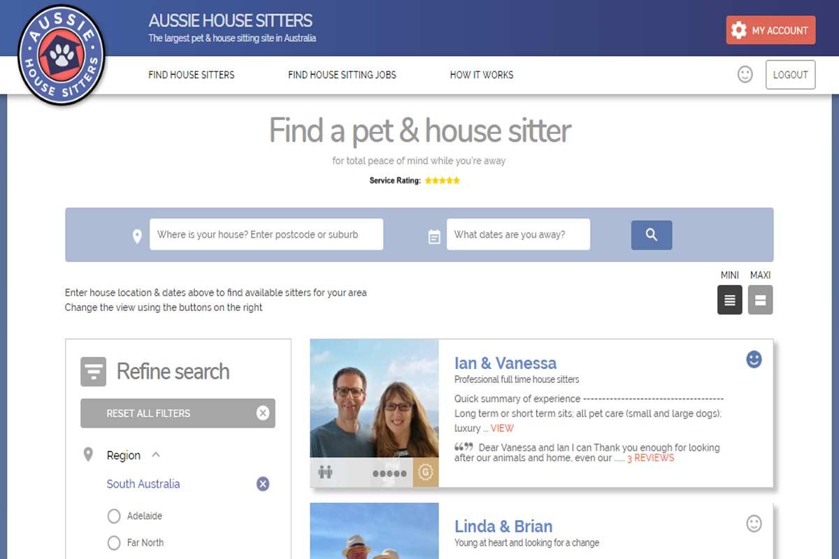 Vanessa & Ian Aussie House Sitters