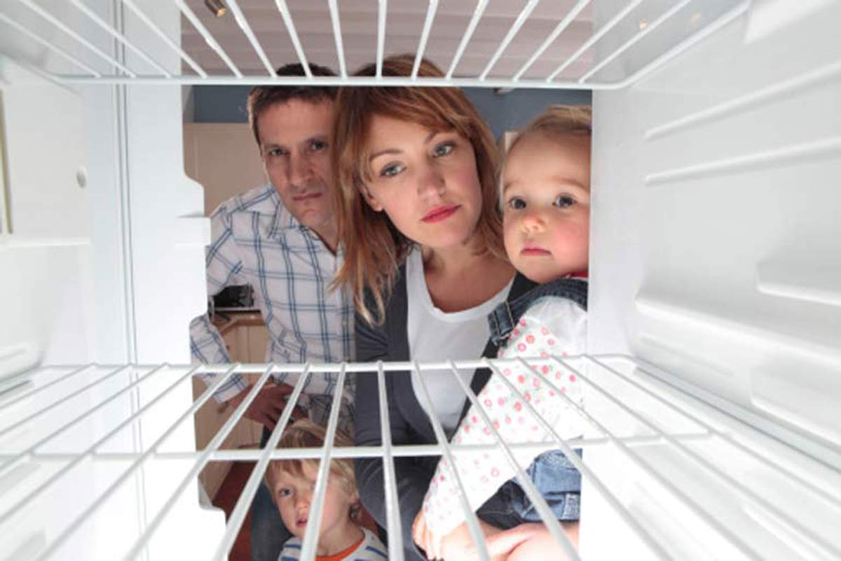 Empty fridge when homeowners return