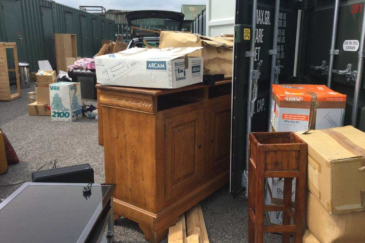 Downsizing to a storage container