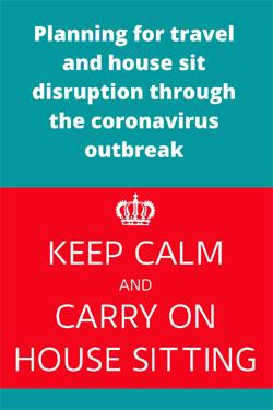 preparing for the coronavirus outbreak as a house sitter #housesitting #coronavirusdisruption #traveldisruption