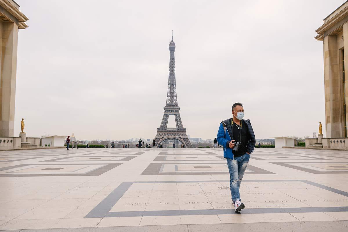 Empty Paris during lockdown